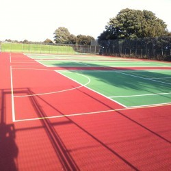Netball Court Painting in Abbeydale 2
