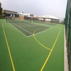 Netball Court Painting in Abbots Leigh 10