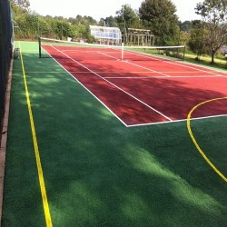 Netball Court Surfaces in Ash 4