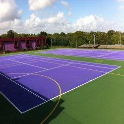 Netball Court Repairs in Annahilt 5
