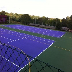 Netball Court Specialists in Heol Senni 12