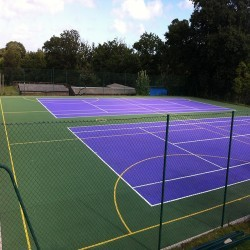 Netball Court Surfaces in Ash 1