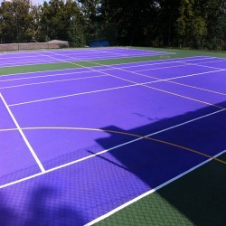 Netball Court Repairs in Annahilt 7