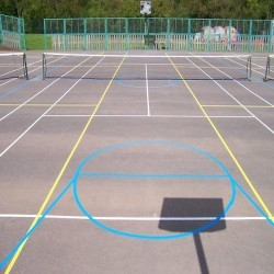 Netball Court Specialists in Acarsaid 10