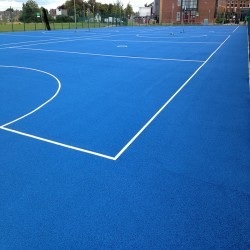 Netball Court Specialists in Heol Senni 3