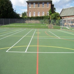 Netball Court Resurfacing in Abhainn Suidhe 1