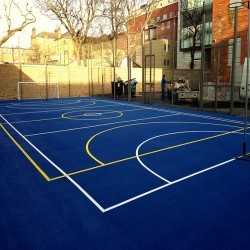 Netball Court Surfaces in Ash 2