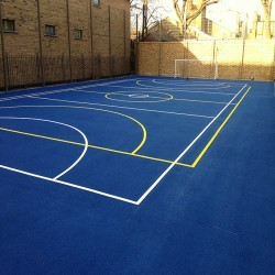 Netball Court Painting in Achahoish 8