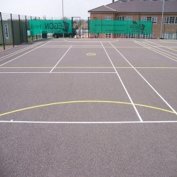 Netball Court Painting in Abbots Leigh 7