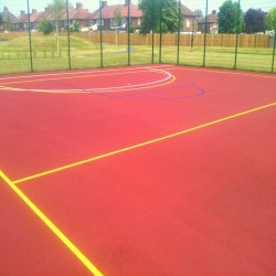 Netball Court Resurfacing in Aldington 8
