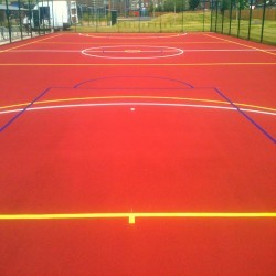 Netball Court Resurfacing in Ashley 7