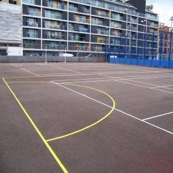 Netball Court Painting in Derbyshire 11