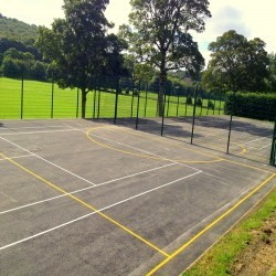 Netball Court Resurfacing in Abhainn Suidhe 7