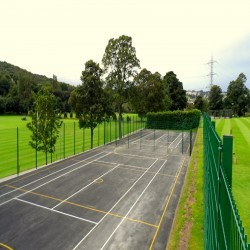 Netball Court Surfaces in Ash 11