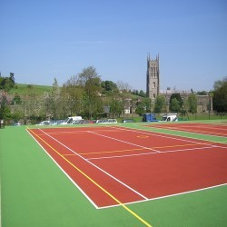 Netball Court Repairs in Apse Heath 1