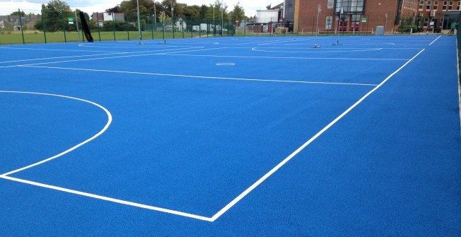 Netball Court Area Size in Down