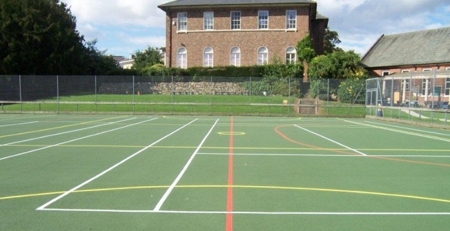 Netball Court Surfaces in Ash