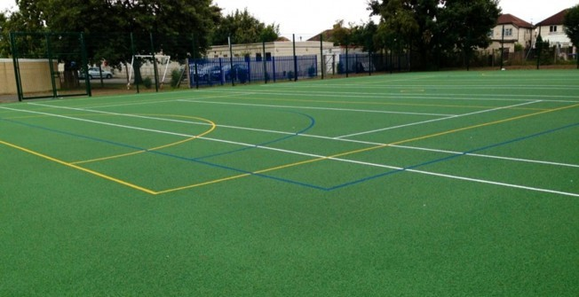 MUGA Netball Facility in East Clyne