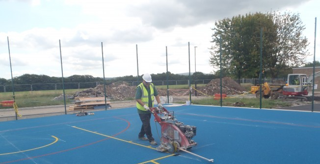 MUGA Facility Marking in Abbots Leigh