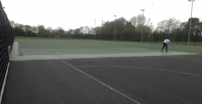 Netball Surface Repainting in Aldington