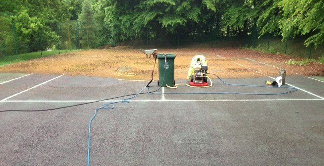 Netball Court Cleaning in Dell