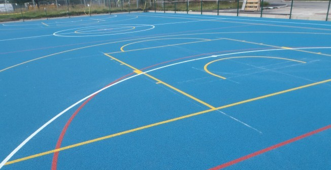 Netball Court Paint in Achahoish