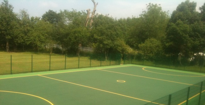 Repairing Netball Facilities in Abergwesyn