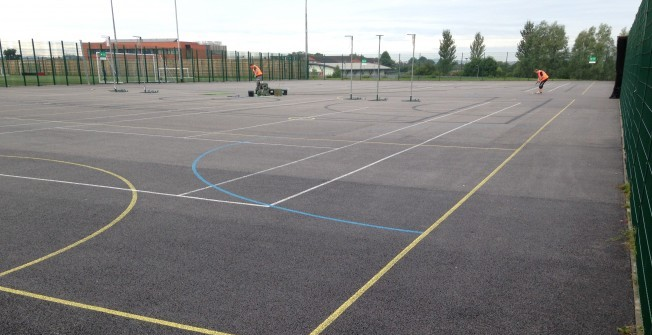 Netball Court Clean in Swansea