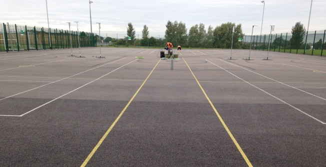 Netball Surface Cleaning in Swansea