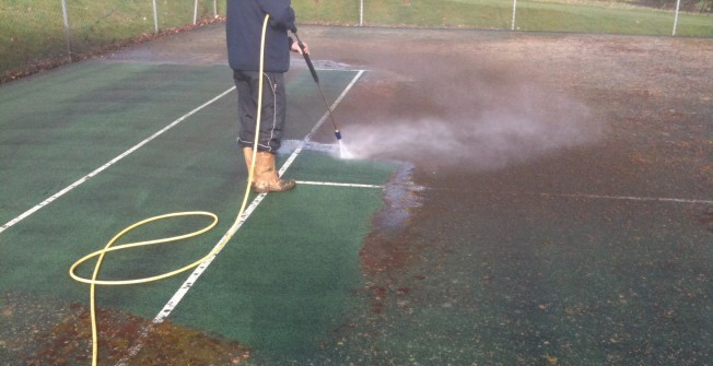 Netball Surface Repair in Abergwesyn